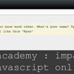 Codeacademy : imparare javascript online