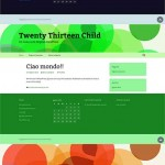 Tre child themes del nuovo tema Twenty Thirteen